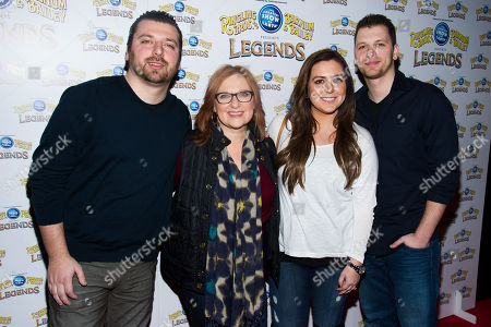 Christopher Manzo, left, Caroline Manzo, Lauren Manzo and Albie Manzo attend the Ringling Bros. and Barnum & Bailey Present Legends circus on in New York