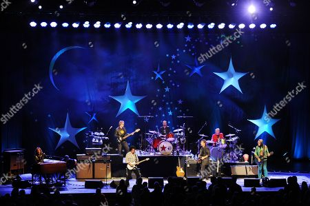 Gregg Rollie,Steve Lukather,Richard Page, Warren Ham, Ringo Starr, Greg Bissonette, and Todd Rundgren of Ringo Starr and his All Starr Band perform at the Broward Center for the Performing Arts on in Ft Lauderdale, Florida