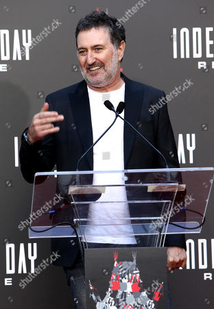 "Harald Kloser is seen at Roland Emmerich Hand & Footprint Ceremony and Red Carpet screening of Twentieth Century Fox ""Independence Day Resurgence"" at TCL Chinese Theatre, in Los Angeles"
