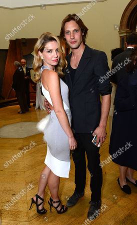 Stock Image of Annabelle Wallis and James Rousseau at the Royal Academy of Art: Summer Exhibition Preview Party in London on