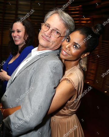 """Screen Gems President Clint Culpepper, left, and Regina Hall attend the Screen Gems premiere of """"When the Bough Breaks"""" at Regal Cinemas L.A. Live, in Los Angeles"""