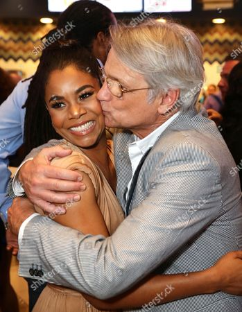 """Regina Hall, left, and Screen Gems President Clint Culpepper attend the Screen Gems premiere of """"When the Bough Breaks"""" at Regal Cinemas L.A. Live, in Los Angeles"""