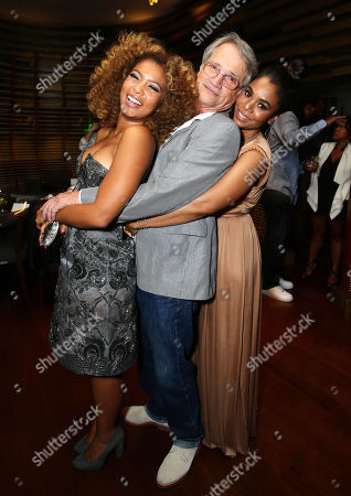 """Jaz Sinclair, from left, Screen Gems President Clint Culpepper, and Regina Hall attend the Screen Gems premiere of """"When the Bough Breaks"""" at Regal Cinemas L.A. Live, in Los Angeles"""