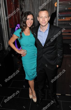 "Actor Micah Hauptman and guest Annika Marks attend the ""Parker"" screening party at Marquee hosted by The Cinema Society at the Museum of Modern Art on in New York"