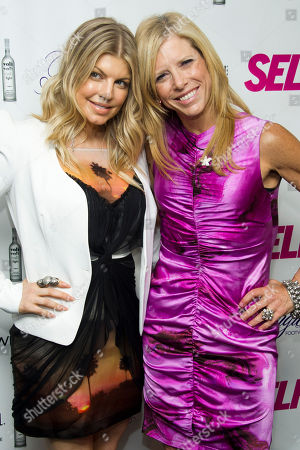 Fergie, left, and SELF Editor-in-Chief Lucy Danziger attend a party to celebrate Fergie's appearance on the July cover of SELF Magazine on in New York