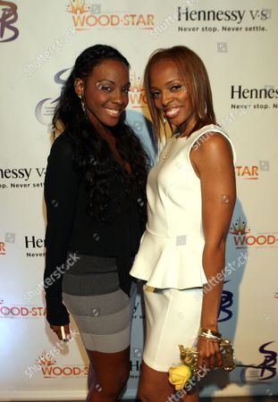 Recording artist Dawn Richards and Sparkle attend Shannon Brown Wood-Star Foundation Dinner on Friday August, 18, 2012, at The Loft in Chicago, Illinois