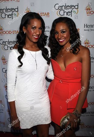 Dr. Michelle Callahan and VH1 personality Janell Snowden attend Shannon Brown Wood-Star Foundation Dinner on Friday August, 18, 2012, at The Loft in Chicago, Illinois