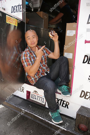 """IMAGE DISTRIBUTED FOR SHOWTIME - CS Lee at the Showtime Dexter Coolhaus Ice Cream Truck, on Sunday, June, 23, 2013 in Venice, CA. For the launch of the eighth and final season of Dexter and as part of its For Your Consideration Emmy Award campaign, SHOWTIME distributes free Dexter """"Killer Combo"""" Ice Cream Sandwiches in Los Angeles and New York"""