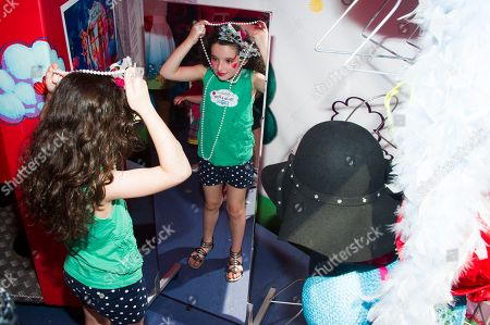 """McKayla Twiggs plays dress up at the """"La Dee Da"""" launch party hosted by Spin Master Ltd. on in New York City's Times Square"""