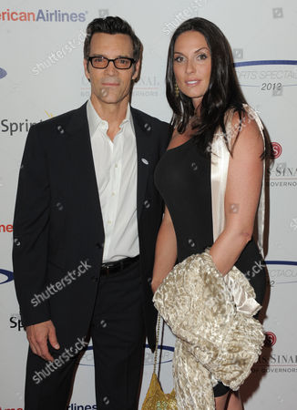 """Stock Photo of Fitness guru Tony Horton and guest attend the """"Sports Spectacular"""" on in Los Angeles, Calif"""