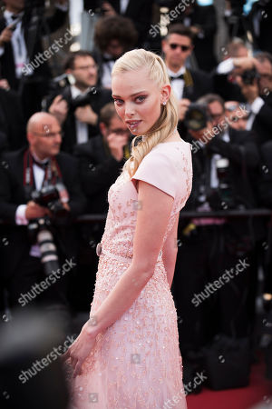 Tanya Dziahileva arrives for the opening ceremony and the screening of the film La Tete Haute (Standing Tall) at the 68th international film festival, Cannes, southern France