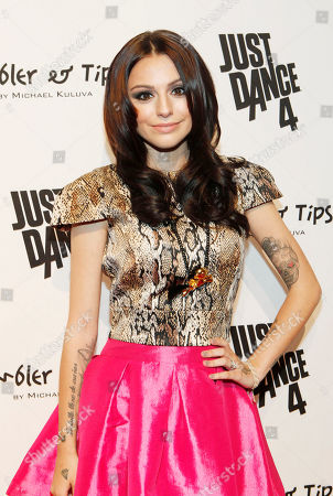Singer Cher Lloyd is seen at the Just Dance 4 Fashion Show, in New York