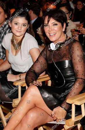 Kylie Jenner and Kris Jenner are seen at the Just Dance 4 Fashion Show, in New York