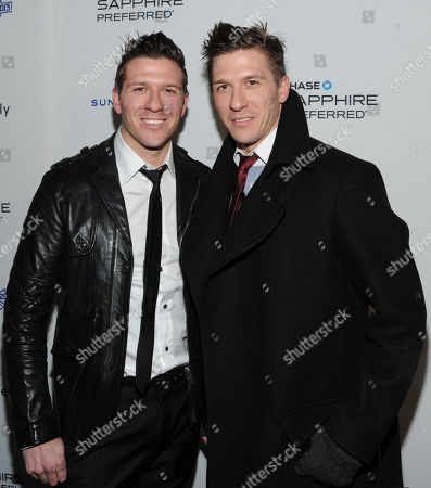 "Daniel Koch, left, and Derek Koch attend the ""Touchy Feely"" premiere party at The Shop during the Sundance Film Festival on in Park City, Utah"