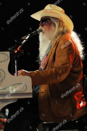 Leon Russell performs at the Sunshine Music and Blues Festival at the Mizner Park Amphitheater on in Boca Raton, Florida