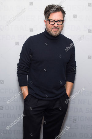 Billy Reid attends an event to unveil Super Bowl 50 designer footballs in collaboration with the CFDA at NFL headquarters, in New York