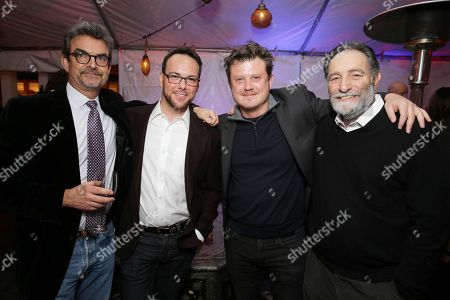 EXCLUSIVE Joshua Donen, Dana Brunetti, Beau Willimon, Eric Roth seen at Ted Sarandos' pre-Golden Globes Netflix toast on