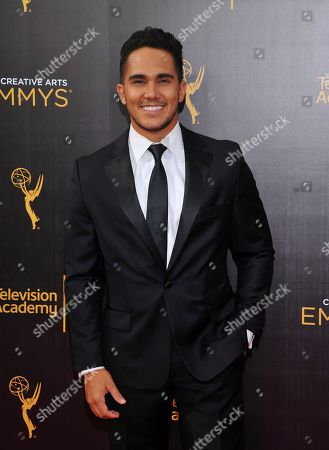 Carlos PenaVega arrives at night two of the Television Academy's 2016 Creative Arts Emmy Awards at the Microsoft Theater on in Los Angeles