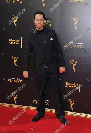David Del Rio arrives at night two of the Television Academy's 2016 Creative Arts Emmy Awards at the Microsoft Theater on in Los Angeles