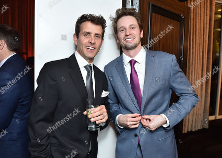 "Joey McIntyre and Tyler Ritter attend the 24th annual Alzheimer's Association ""A Night at Sardi's"" at the Beverly Hilton hotel, in Beverly Hills, Calif"