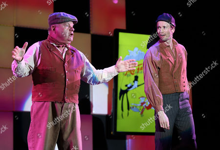 "Jack McGee and Tyler Ritter perform songs from the musical My Fair Lady at the 24th annual Alzheimer's Association ""A Night at Sardi's"" at the Beverly Hilton hotel, in Beverly Hills, Calif"