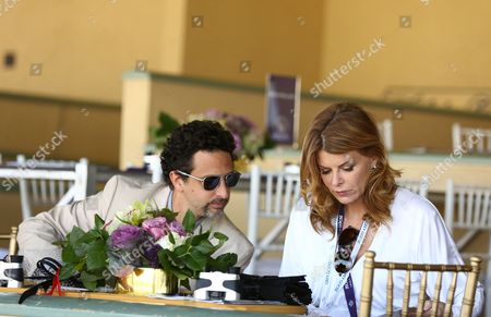 Grant Haslov and Lysa Heslov are seen on Day 2 of the Breeders' Cup World Championships, in Arcadia, Calif