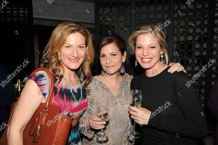 Stock Picture of Ana Gasteyer, from left, Emily Cutler, and Kayla Alpert are seen at the The Buzz Girls Perrier Jouet Creatives dinner on in Los Angeles, Calif
