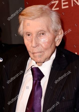 Stock Picture of Sumner Redstone arrives at The Hollywood Reporter Nominees Night presented by Cadillac, Bing, Delta, Pandora jewelry, Qua, and Zenith, at Spago, in Beverly Hills, Calif