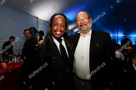 """Verdine White and Dick Parsons attend the 13th annual """"A Great Night in Harlem"""" gala concert, presented by The Jazz Foundation of America to benefit The Jazz Musicians Emergency Fund, at The Apollo Theater, in New York. This year's Lifetime Achievement Award honoree is musician Herbie Hancock"""