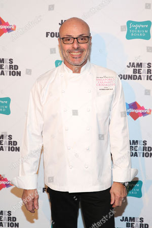 Chef Alfred Portale seen at The JBF Gala: Singapore's Culinary Crossroads, presented by the Singapore Tourism Board at the Rainbow Room on in New York