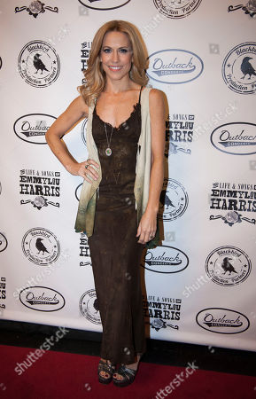 Stock Image of Sheryl Crow is seen on the red carpet at The Life & Songs of Emmy Lou Harris at the DAR Constitution Hall on in Washington