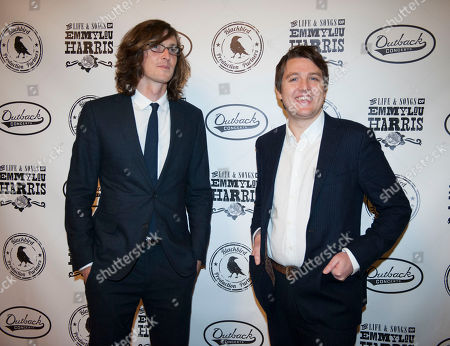 The Milk Carton Kids members Joey Ryan, left, and Kenneth Pattengale are seen on the red carpet at The Life & Songs of Emmy Lou Harris at the DAR Constitution Hall, in Washington