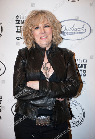 Stock Photo of Lucinda Williams is seen on the red carpet at The Life & Songs of Emmy Lou Harris at the DAR Constitution Hall on in Washington