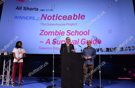 Stock Image of Christopher Figg, producer and Oliver Parker, director, at the National Youth Film Festival Awards at the Vue Cinema, Leicester Square in London on Friday, Nov. 2013