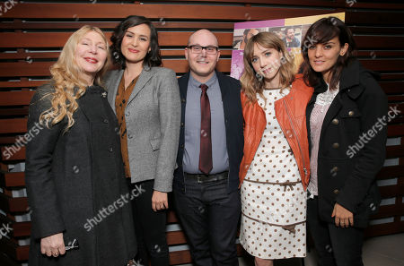 Stock Picture of Producer Robin Schorr, Writer/Director Jenee LaMarque, Producer Steven Berger, Zoe Kazan and Frankie Shaw attend The Pretty One Special Screening at UTA on in Los Angeles