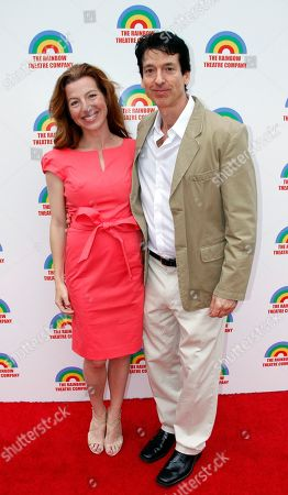 """Stock Photo of Lead actors Tanna Frederick and Robert Standley arrive at a Special Performance of The Rainmaker Benefiting """"Here To Serve"""" on at Edgemar Center For The Performing Arts in Santa Monica, Calif"""