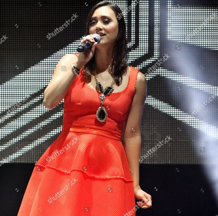The Voice Season 1 runner-up Dia Frampton performing as part of The Voice Tour at Cobb Energy Centre, in Atlanta