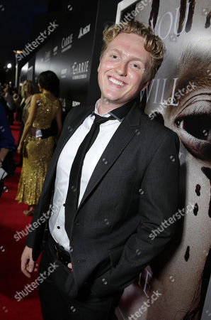 Stock Picture of Max Topplin seen at The World Premiere of MGM and Screen Gems' 'Carrie,' on Monday, Oct, 7, 2013 in Hollywood