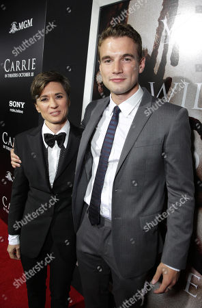 Director Kimberly Peirce and Alex Russell seen at The World Premiere of MGM and Screen Gems' 'Carrie,' on Monday, Oct, 7, 2013 in Hollywood