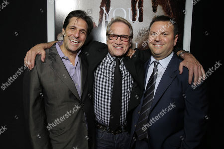 MGM's Jonathan Glickman, Screen Gems' Clint Culpepper and Producer Kevin Misher seen at The World Premiere of MGM and Screen Gems' 'Carrie,' on Monday, Oct, 7, 2013 in Hollywood