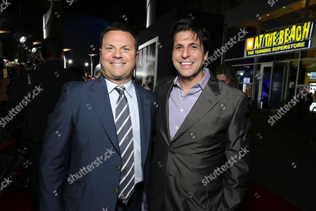Producer Kevin Misher and MGM's Jonathan Glickman seen at The World Premiere of MGM and Screen Gems' 'Carrie,' on Monday, Oct, 7, 2013 in Hollywood