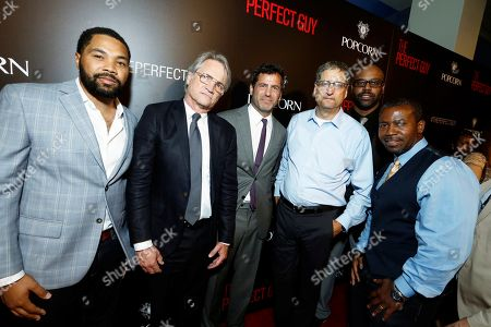 Producer Tommy Oliver, President, Screen Gems - Clint Culpepper, Director David Rosenthal, Chairman, Sony Pictures Motion Picture Group - Tom Rothman, Writer Tyger Williams and Producer Darryl Taja seen at The World Premiere of Screen Gems 'The Perfect Guy', in Los Angeles, CA