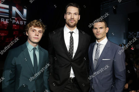 Evan Peters, Daniel Cudmore and Josh Helman seen at the Twentieth Century Fox Global Premiere of 'X-Men: Days of Future Past' held at the Jacob K. Javits Convention Center, in New York City