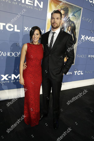 Stephanie Cudmore and Daniel Cudmore seen at the Twentieth Century Fox Global Premiere of 'X-Men: Days of Future Past' held at the Jacob K. Javits Convention Center, in New York City