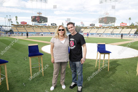 Producer Cathleen Summers and Victor DiMattia seen at Twentieth Century Fox Home Entertainment celebrating the 20th anniversary of 'The Sandlot' at Dodger Stadium, on Sunday, Sep, 1, 2013 in Los Angeles