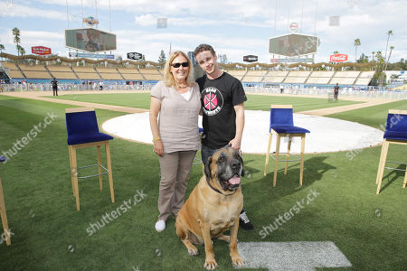 Producer Cathleen Summers, Victor DiMattia and 'The Best' seen at Twentieth Century Fox Home Entertainment celebrating the 20th anniversary of 'The Sandlot' at Dodger Stadium, on Sunday, Sep, 1, 2013 in Los Angeles