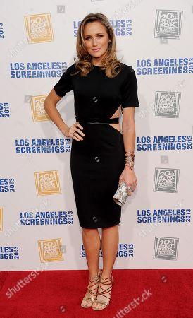 Stock Picture of Shantel Van Santen arrives at Twentieth Century Fox Television Distribution's 2013 LA Screenings Lot Party on in Los Angeles, California
