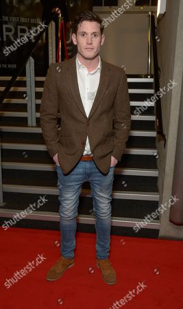 """Tommy McDonnell arrives at the UK Screening of """"Starred Up"""" at Hackney Picture House in London on Tuesday, March. 18th, 2014"""