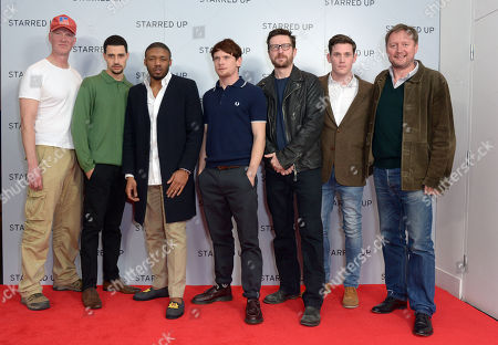 "Writer Jonathan Asser, actor David Avery, actor Ashley Chin, actor Jack O'Connell, actor Peter Ferdinando, actor Tommy McDonnell and Director David McKenzie arrive at the UK Screening of ""Starred Up"" at Hackney Picture House in London on Tuesday, March. 18th, 2014"