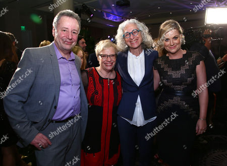 Founder of unite4good, Anthony Melikhov, from left, Dr. Leslie Faerstein, executive director unite4good, Dr. Jane Aronson, and Amy Poehler attend unite4:good and Variety's 2nd annual unite4:humanity at the Beverly Hilton Hotel on Thursday, Feb.19, 2015, in Beverly Hills, Calif